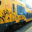 Graffiti trein in Noord-Holland (foto NS)