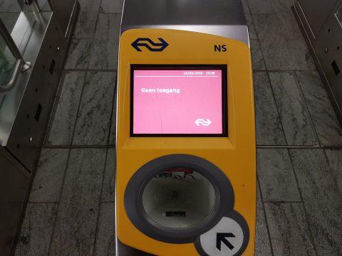 Geen toegang OV-poort station Breda