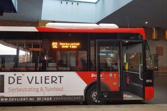 Interactieve informatie op bus Arriva in Breda