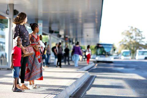 Reiziger bushalte