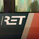 Logo RET op metro