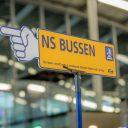 Bewegwijzering naar NS-bussen bij werkzaamheden (foto: NS)