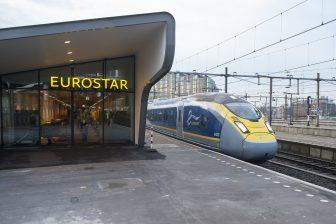 Eurostar op Rotterdam Centraal (foto: NS)