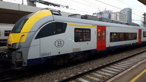 NMBS-trein op station Brussel