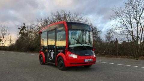 Autonome bus Transdev/Torc (foto: Transdev)