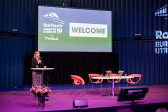 Staatssecretaris Stientje van Veldhoven op RailTech