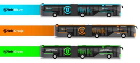 Animatie U-link bussen voor Utrecht