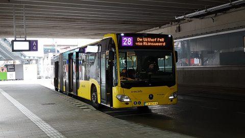 Buslijn 28 naar Uithof in Utrecht, U-OV