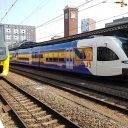 NS en Arriva trein op station Nijmegen