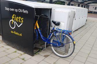 OV-fiets in kluis op station Deurne