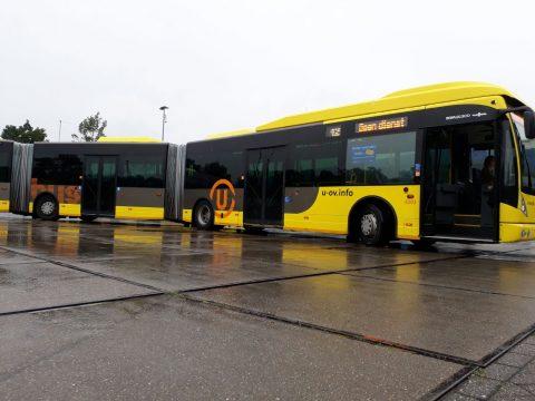 U-OV, dubbel gelede bus in Utrecht