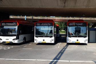 Mercedes- en VDL-bus van EBS voor Haaglanden