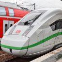 Duitse ICE trein van DB met groene streep (foto: Deutsche Bahn)