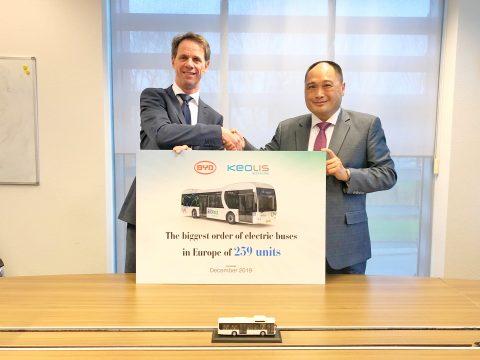 Bestelling BYD-bussen door Keolis voor IJssel-Vecht