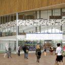XL-reisinformatiebord op Rotterdam CS