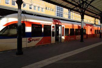 Arriva-spurt op Wiederline naar Bad Nieuweschans-Leer