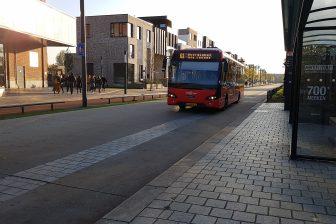 Bus van Syntus op busbaan Enschede