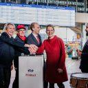Foto NS reisinformatiescherm Rotterdam