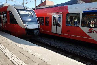 Regionale treinen van Arriva en Syntus