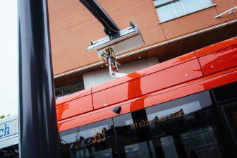 Pantograaf elektrische bus