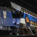 Spoorongeval nabij Praag (foto: ANP)