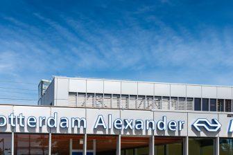 Voorgevel station Rotterdam Alexander (bron: NS)