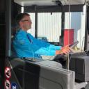 Spatscherm bus allGo (bron: Keolis)