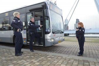 Boa's bij RET-bus (foto: Rick Keus)