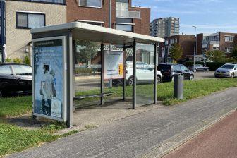 Bushalte in Rotterdam Zuid