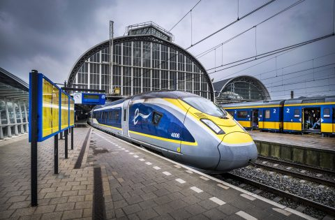 Eurostar op Amsterdam CS (bron: NS)