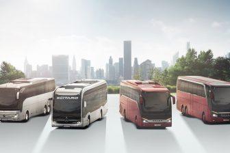Setra- en Mercedes-bussen (foto: Daimler)