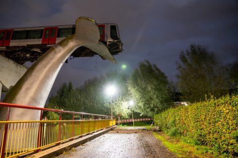 Ongeluk metro Spijkenisse (bron: ANP)