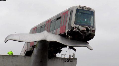 Ongeluk metro Spijkenisse (bron: SpoorPro TV)