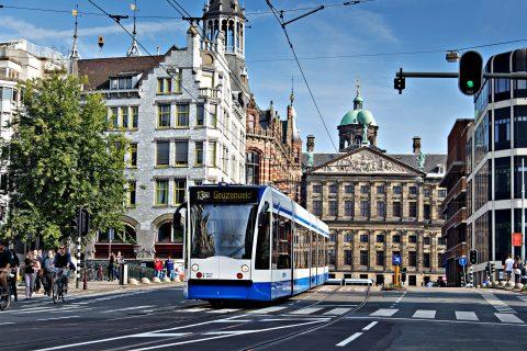 Trams GVB in Amsterdam (foto: Jolanda Fisser)