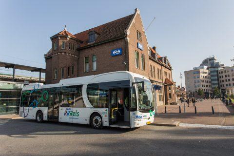 Elektrische bus RRReis in Deventer (foto: Keolis)