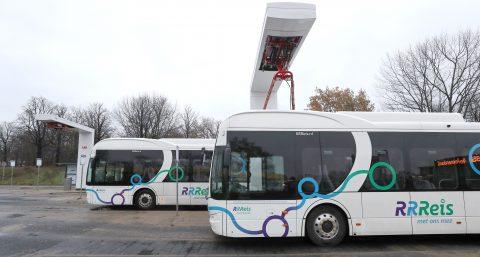 Elektrische bussen RRReis pantograaf (foto: Keolis)