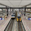 Sprinter en intercity op Rotterdam Centraal