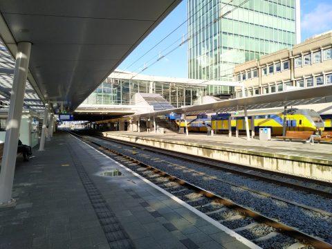 Leeg perron Utrecht CS