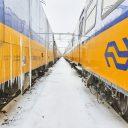 Treinen in sneeuw in Rotterdam (foto: NS)