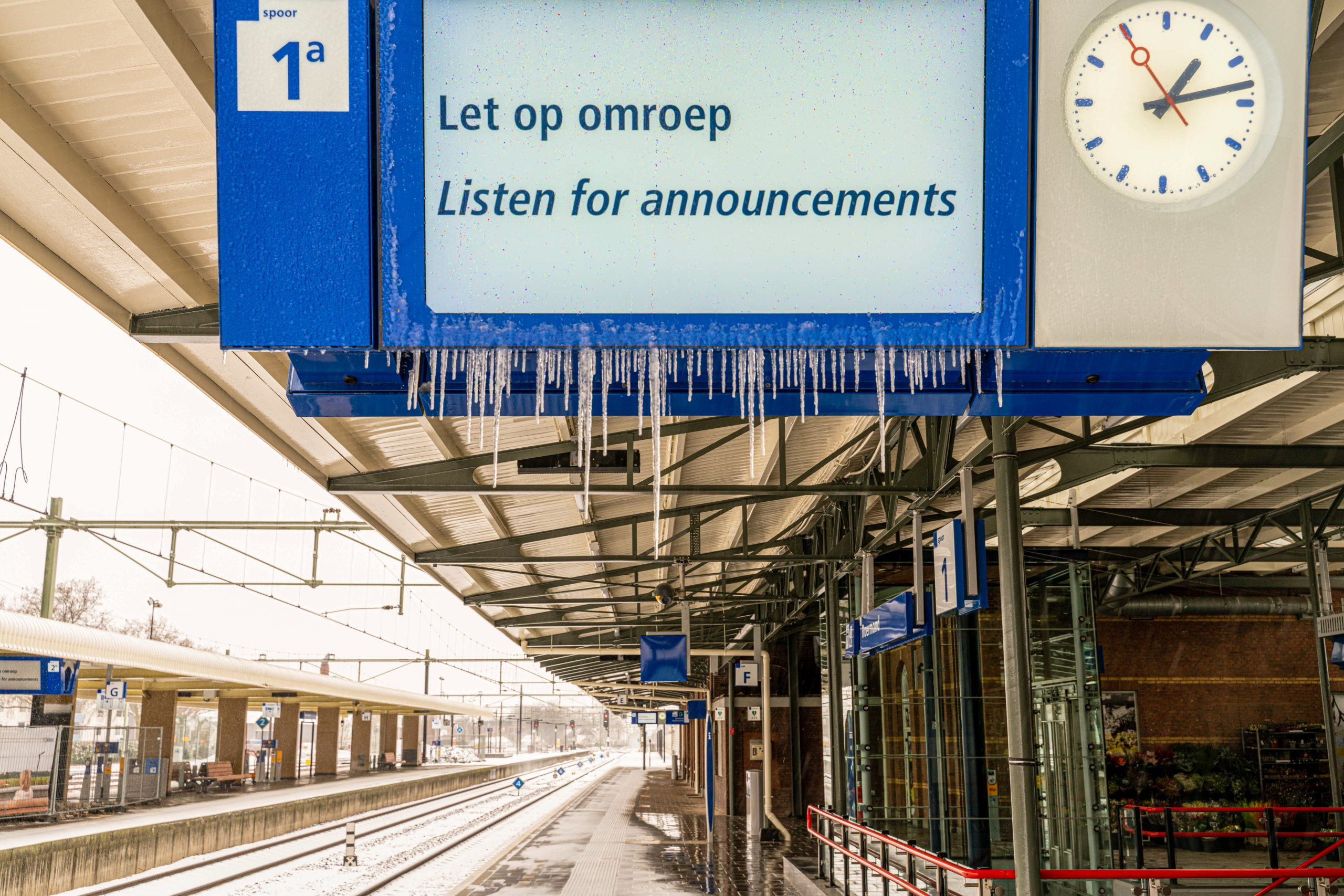 Station Roermond winterweer (foto: NS)