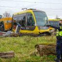Ontsporing tram op de Uithoflijn, foto: Koen Laureij