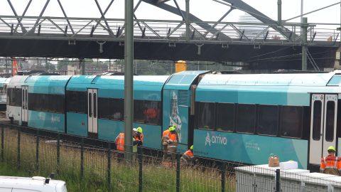 Ontsporing Arriva-trein Groningen. Foto: ANP