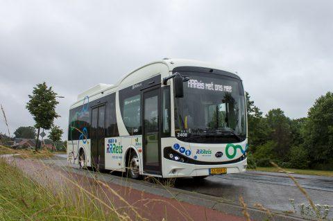 8,8 meter-bus BYD Keolis in IJssel-Vecht (foto: Keolis)