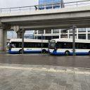 Elektrische bussen GVB op Sloterdijk