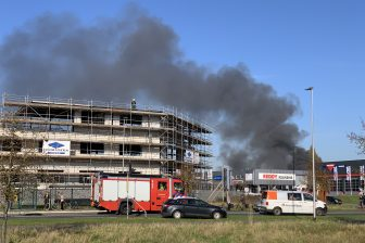 Brand in stalling Arriva door waterstofbus, foto: News United / 112 Achterhoek-nieuws