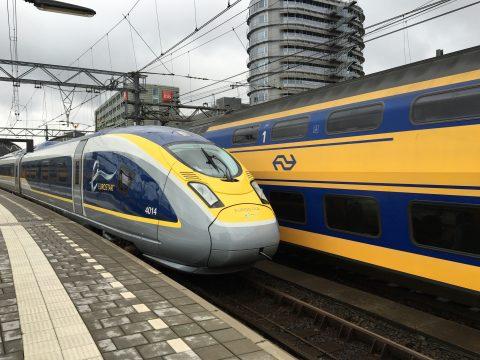 Eurostar op Amsterdam Centraal (foto: NS)