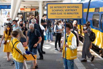 Testdag tienminutentrein Leiden Centraal (foto: NS)